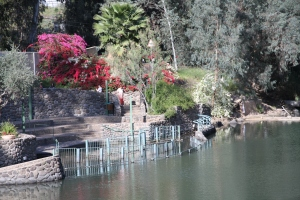 The baptism site at Yardnit on the Jordan River in Galilee.