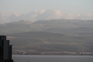 The hills north of the Sea of Galilee