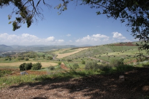 View west from the Mount of Beatitudes.