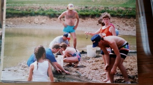 Seining one of the breeder ponds.