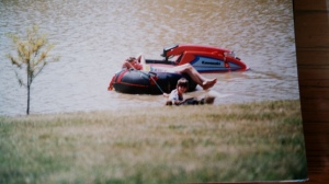 Eric's jet ski on the big pond.  Jason prefers Rhiannon power though.