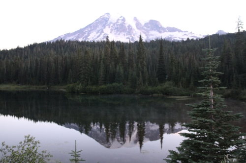 A split density filter will be a next purchase for me to get the bright sunrise on the mountain and the darker reflection in the lake.  I guess that means I have to come back.