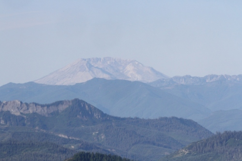 Mount St Helens which erupted in 1980.