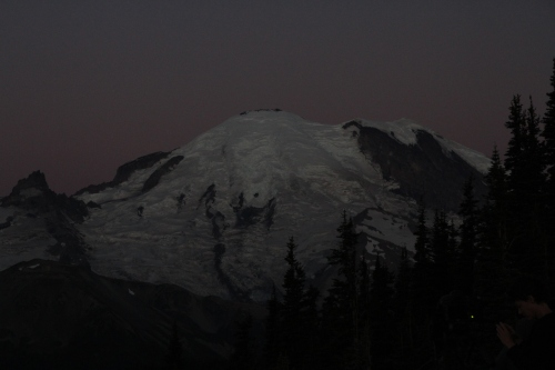 About two minutes before first sun on the crest.