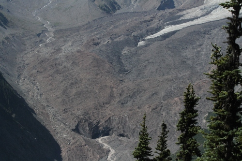 Close up of the bottom of Emmons Glacier.