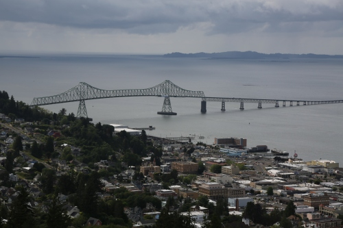 Astoria and the Astoria Megler Bridge, the final crossing of the Columbia River before the Pacific Ocean.