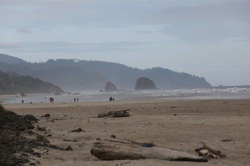 Another view southward on Cannon Beach. We drove about half of the Oregon Coast on the trip and this is fairly indicative of what it is like.
