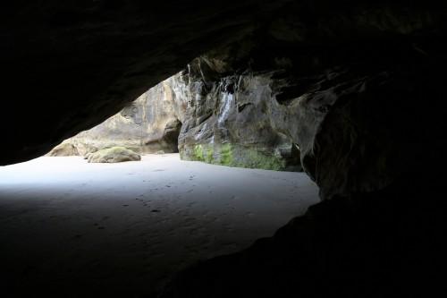 View from back in one of the Sea Caves.