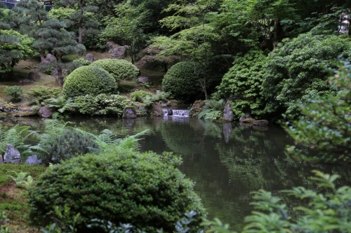 One of the peaceful ponds in the Japanese Garden.