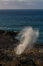 The spouting horn doing what it is famous for.