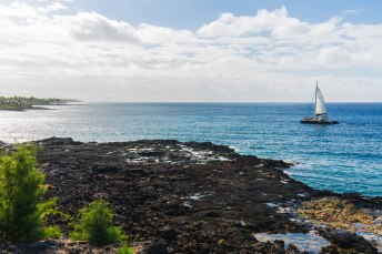 The south shore of Kauai, also known as the Sunny Side.