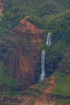 A closer view of Waimea Falls than from the lookout.