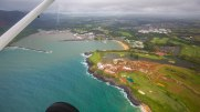 Leaving the airport at Lihue under a fair cover of clouds we headed south.