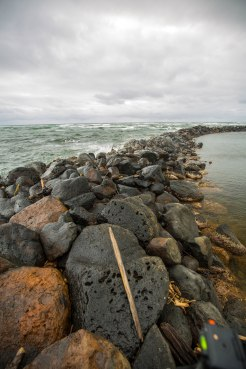 """The Hawaiians were among the earliest people to practice aguaculture. They build these fishponds which had small openings that young fish could swim through into the """"safe"""" water inside."""